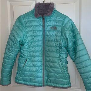North Face reversible Mossbud Swirl Coat
